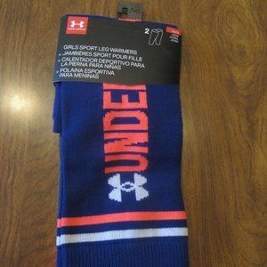 (2) Under Armour Girls Youth One Size Leg Warmers